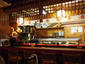 宗右衛門寿司のカウンター