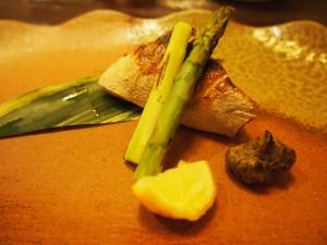 カンパチと蕗味噌