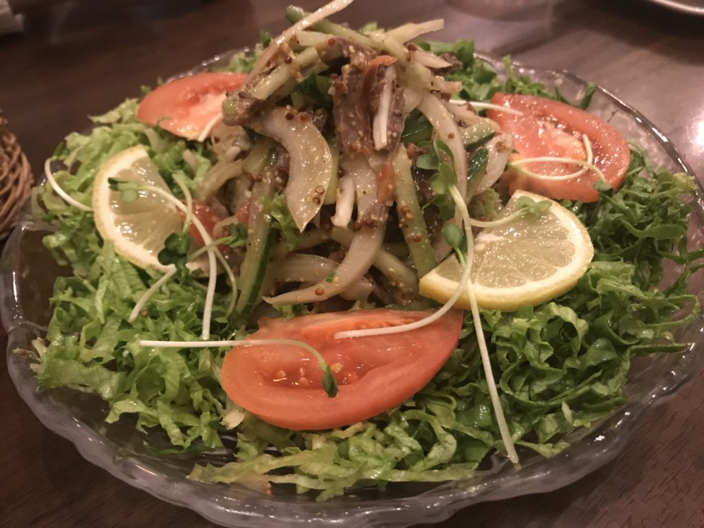 スパイススモークビーフのマスタードサラダ