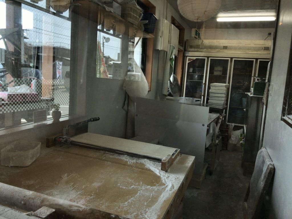 うどんの製麺ルーム